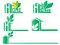Stock Image : Green Home  icons set