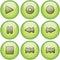Stock Image : Green icon set