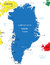 Stock Image : Greenland map