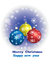 Stock Image : Greeting card,xmas ball