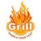 Stock Image : Grill sticker