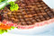 Stock Image : Grilled Meat Miho Akasaka Steak on the white plate