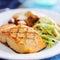 Stock Image : Grilled salmon closeup