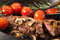 Stock Image : Grilling Strip Loin Steak Series: The Steak is Ready and Sliced
