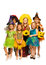 Stock Image : Group of kids in Halloween costumes