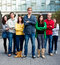 Stock Image : Group of Students Outside