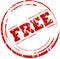 Stock Image : Grunge free stamp