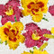 Stock Image : Grunge seamless floral mosaic pattern