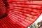 Stock Image :  Guarda-chuva vermelho japonês tradicional