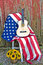Stock Image : Guitar on American flag