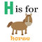 Stock Image : H is for Horse