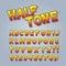 Stock Image : Halftone Comic Pop Art Alphabet and Numbers