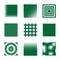 Stock Image : Halftone Squares