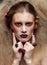 Stock Image : Halloween Beauty woman makeup
