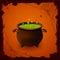 Stock Image : Halloween cauldron and spiders