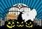 Stock Image : Halloween_Cemetery