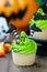 Stock Image : Halloween cupcake
