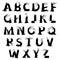 Stock Image : Halloween horror alphabet letters