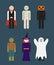 Stock Image : Halloween monster costume
