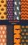Stock Image : Halloween pattern set