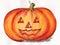 Stock Image : Halloween pumpkin face