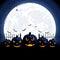 Stock Image : Halloween pumpkins