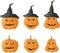 Stock Image : Halloween pumpkins vector