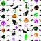 Stock Image : Halloween seamless pattern