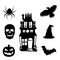 Stock Image : Halloween Silhouette Icons