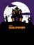 Stock Image : Halloween spooky house portrait