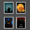 Stock Image : Halloween stamps