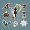 Stock Image : Halloween stickers