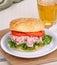 Stock Image : Ham Salad Sandwich