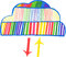 Stock Image : Hand-drawn cloud computing icon