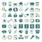 Stock Image : 49 hand-drawn web icons