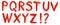 Stock Image : Hand geschilderd alfabet - deel 2