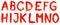 Stock Image : Hand geschilderd alfabet - deel 1
