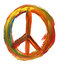 Stock Image : Hand geschilderd vredesteken