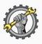 Stock Image : Hand logo