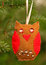 Stock Image : Hand made owl, Christmas decoration