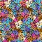 Stock Image : Hand painted vector pattern with splatters