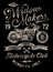 Stock Image : Hand Painted Vintage Motorcycle Graphic