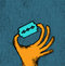 Stock Image : Hand witz blade