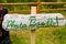 Stock Image :  Handmade знак будочки фото