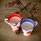 Stock Image : Handmade ceramic cups