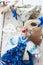 Stock Image : Handmade goat toy