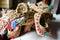 Stock Image : Handmade straw sandals
