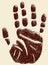 Stock Image : Handprint