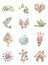 Stock Image : Handprint painted shapes -