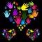 Stock Image : Hands Diversity